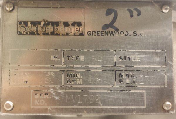 "2"" Stainless Steel Schlumberger Meter"