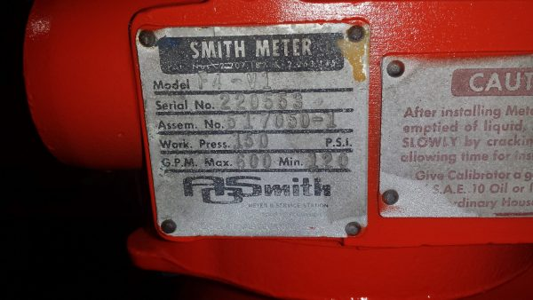 "4""Smith F4-V1 Vertical meter"