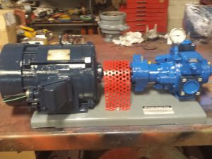 GX2B Blackmer pump with 4.1 reducer and 3hp motor