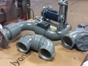 "4"" Emco Wheaton top loading arm and load valve. Call with your custom pipe needs"