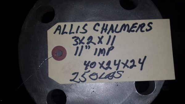 3X2X11 Allis Chalmers Stainless steel Centrifugal pump