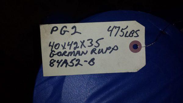 "4"" Gorman Rupp 84A52B Self priming pump"