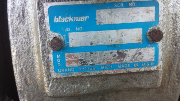 "2 1/2"" SNP2.5 Blackmer skid used"
