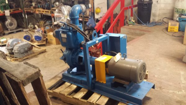 "3"" Gorman Rupp self priming Trash pump with 4"" flanges USED"