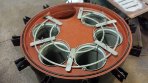 "6"" Strainrite 5 bag steel Filter"