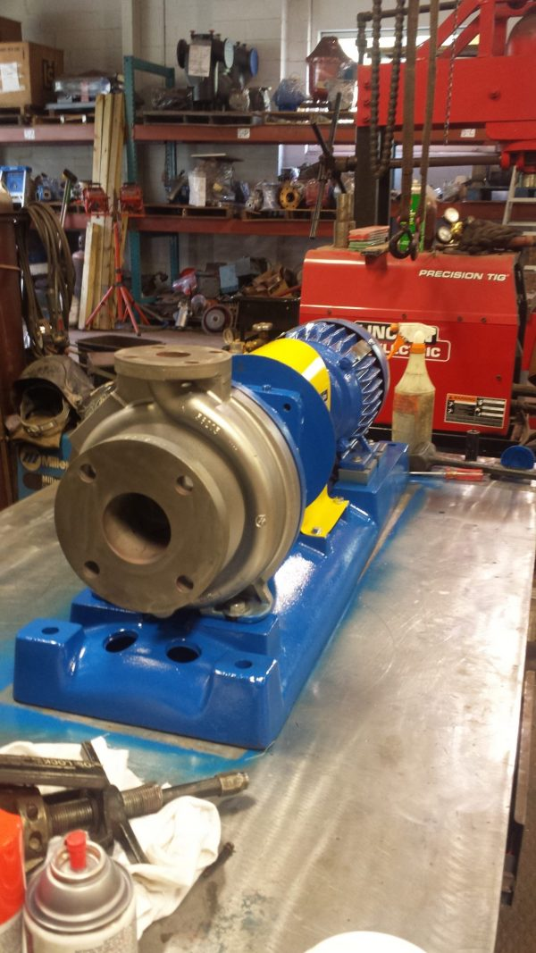 """1 1/2"""" X 3"""" X 8"""" Stainless steel Gould's 3196 with 3HP exp. motor"""
