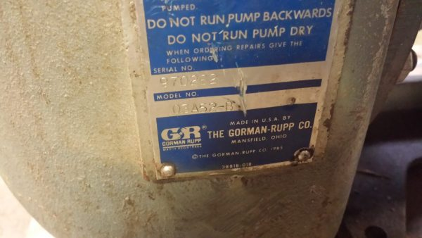 "3"" Gorman Rupp self priming 03A52-B Used"