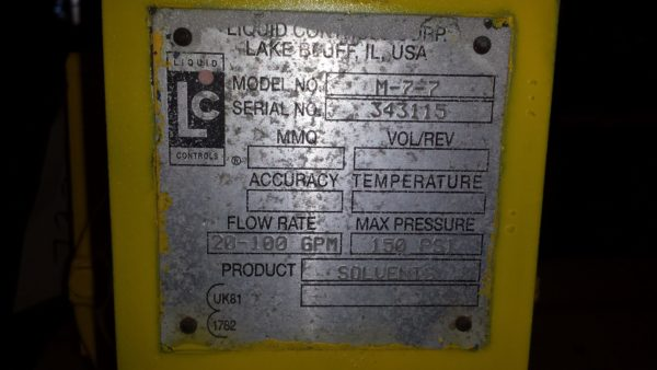 "2"" Liquid Controls meter only STEEL"