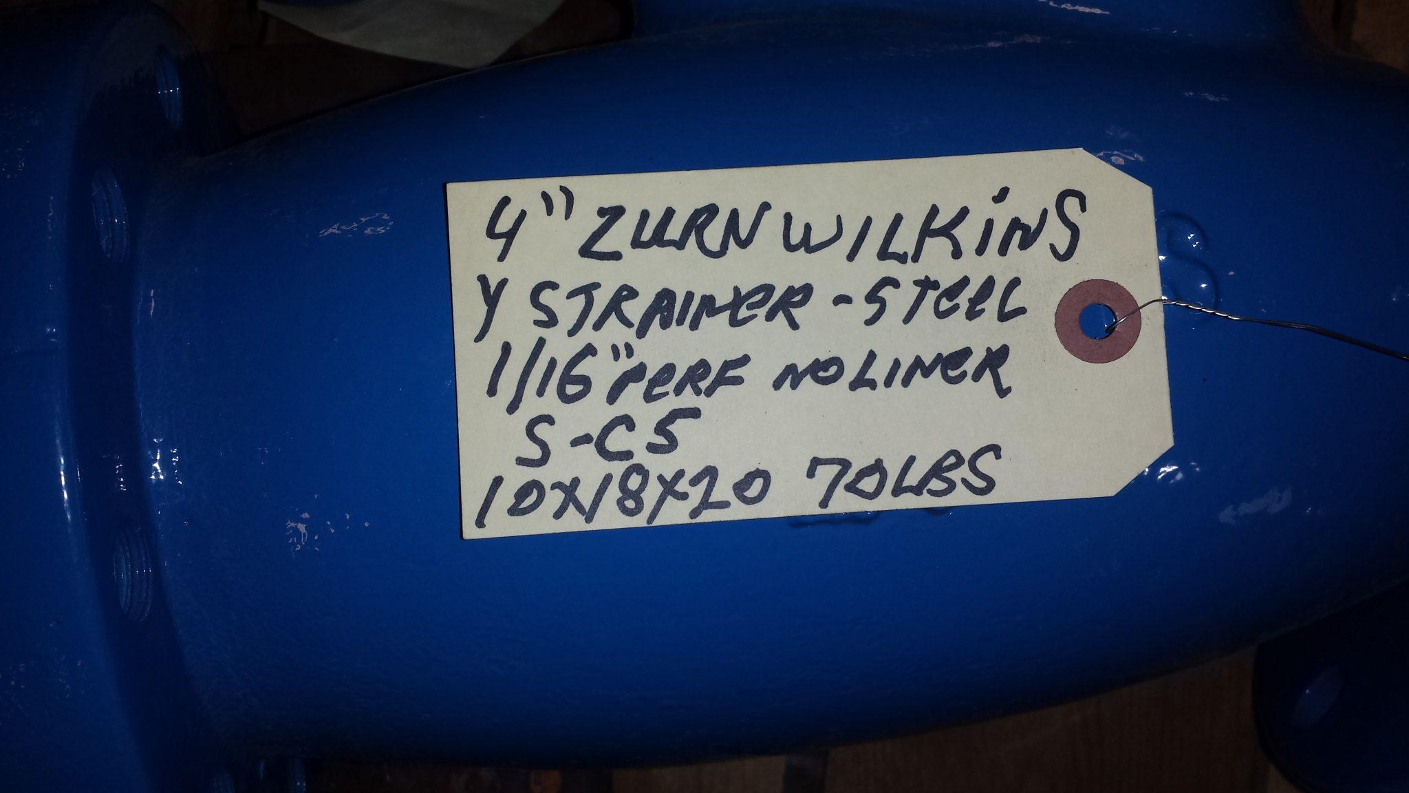 4″ Zurn Wilkins steel Y strainer, NEW – Oil Trades Supply Corp