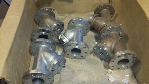"""4"""" Stainless Steel Y-Strainers with 300lb Flanges"""