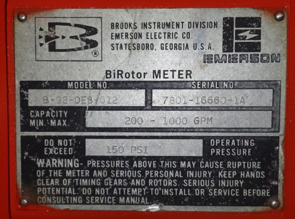 "6"" Brooks Meter B-92 - up to 1,000GPM - Rebuilt, 2yr Warranty, Make Offer!"