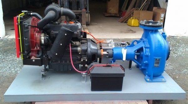 "6"" Gorman Rupp Centrifugal Pump w/Lombardini Diesel Engine, battery & 5gal tank"