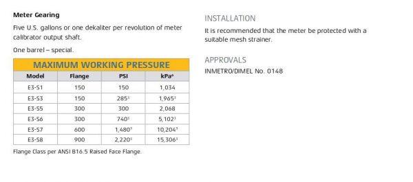 E3-S6 - High Pressure Smith Meter