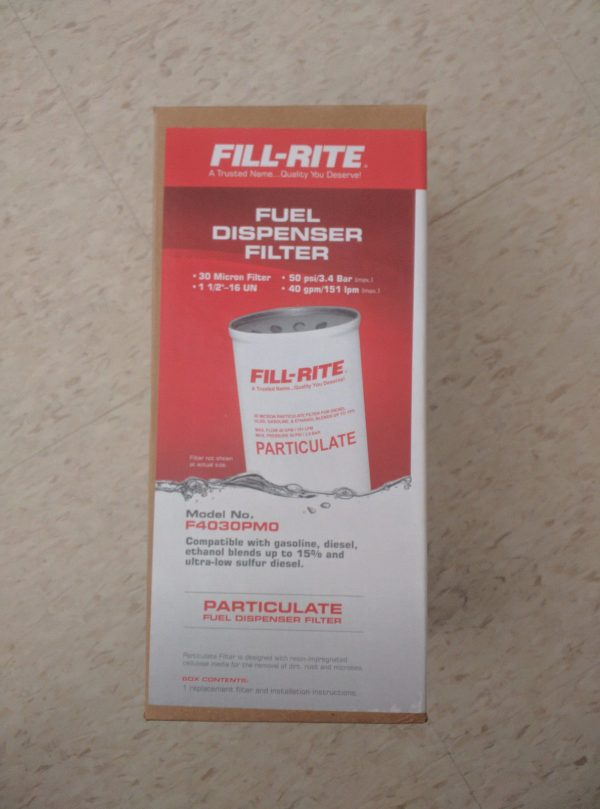 Fill-Rite F4030PM0 40 GPM 30 Micron Smooth Finish Particulate Spin on Filter