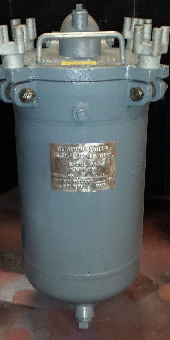 """Filtration Systems Mechanical 2"""" Single Bag Filter, Stainless Steel, High Temp"""