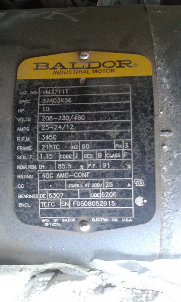 Goulds Mag-Drive Centrifugal Pump w/Baldor Motor