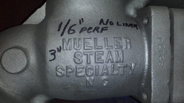 "Mueller 3"" Stainless Steel Y-Strainer with basket!"