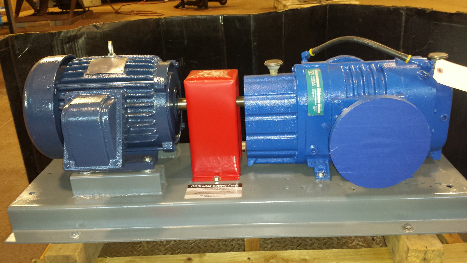 NEW Tuthill Blower Pump 3206 on Base with Gear Reduction & Variable Speed  Motor
